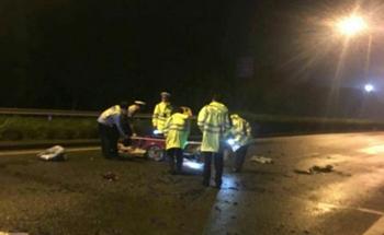 义乌上佛线一男子骑电瓶车被撞,当场身亡